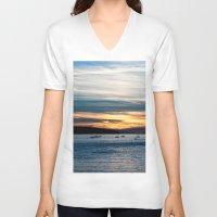 twilight V-neck T-shirts featuring Twilight by Dana E