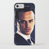 moriarty iPhone & iPod Cases featuring Jim Moriarty by Kristine Harbek