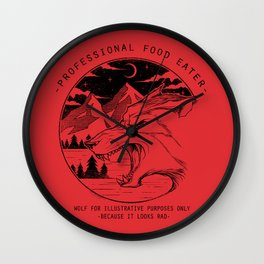 Professional Food Eater Wall Clock