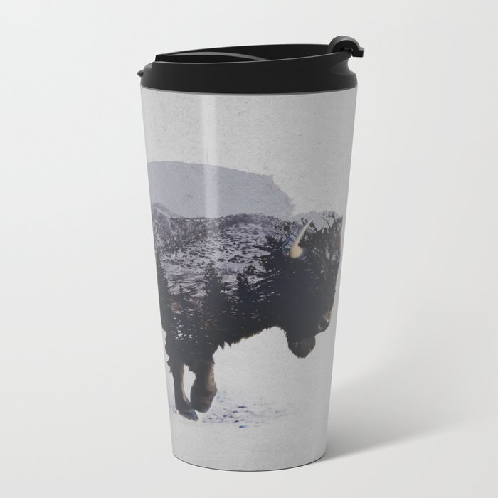 The American Bison Metal Travel Mug