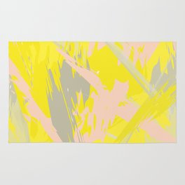 Lovely Summer - Abstract - Coral, Yellow, Sand Rug