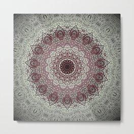 Antique Lace Mandala Metal Print