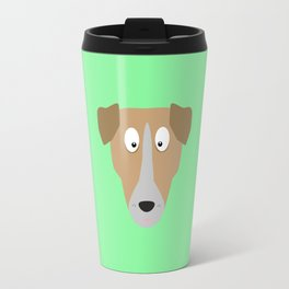 Cute Dog Face T-Shirt for Women, Men and Kids Travel Mug