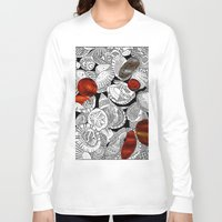 shells Long Sleeve T-shirts featuring Shells by EmilyGrantDesign