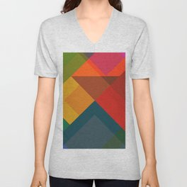 Abstract Composition 632 Unisex V-Neck