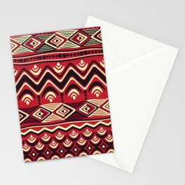 African Tribal Pattern No. 116 Stationery Cards