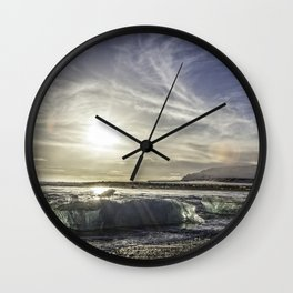 Jokulsarlon Lagoon Beach 03 Wall Clock