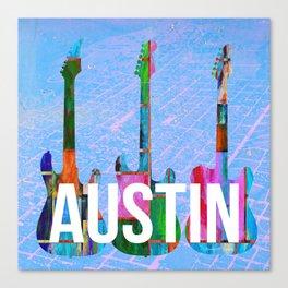 Austin Texas Music Scene Canvas Print