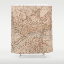 Vintage Map of Frankfurt Germany (1880) Shower Curtain