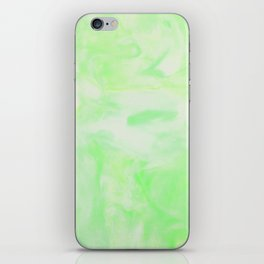 Neon Green Marble iPhone Skin