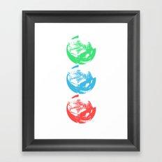 Tri Sugar Skull Framed Art Print