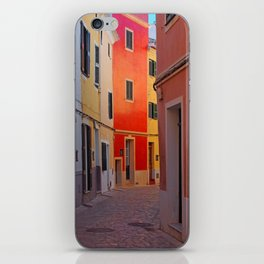 Glowing Street in Ciutadella iPhone Skin