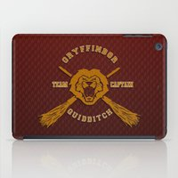 quidditch iPad Cases featuring Gryffindor quidditch team iPhone 4 4s 5 5c, ipod, ipad, pillow case, tshirt and mugs by Three Second