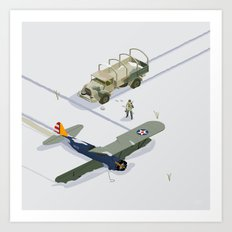 found airplane Art Print