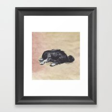 Patience is a dog. Framed Art Print
