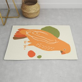 Quirky Australian King Parrot Rug
