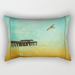 Enjoy Breathe Relax Smile ~ Tybee Island Pier ~ Ginkelmier Inspired Rectangular Pillow