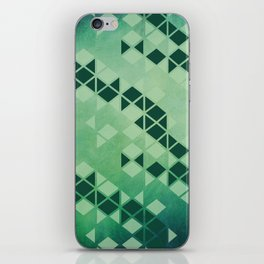 Forest Green -  Geometric Triangle Pattern iPhone Skin