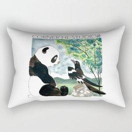 Panda meets Magpie Rectangular Pillow