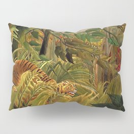 Tiger in a Tropical Storm - Surprised! by Henri Rousseau Pillow Sham