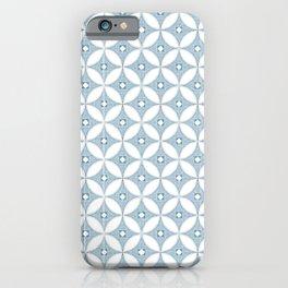 Gray circle Mid Century design , grey textures iPhone Case