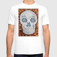 Galvanized Skull Mens Fitted Tee MEDIUM White