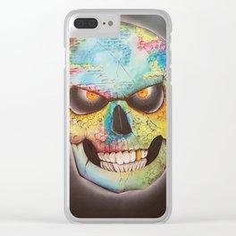 Mr. skull himself Clear iPhone Case