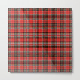 Vintage Plaid Lunchbox Metal Print