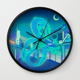 Neon Dragon Wall Clock