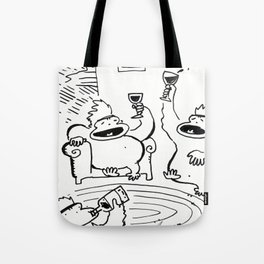 Apes Well into the Wine-Tasting Tote Bag