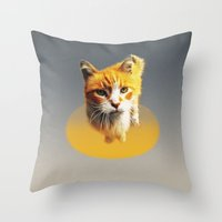 ginger Throw Pillows featuring Ginger by mtheb