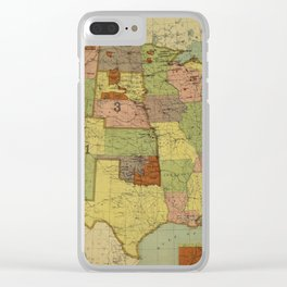 Map of Indian Reservations 1902 Clear iPhone Case