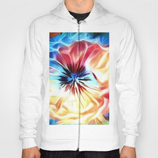 Circular Abstract Rainbow Hoody