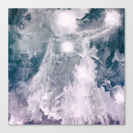 Galactic being holding stars and suns Canvas Print