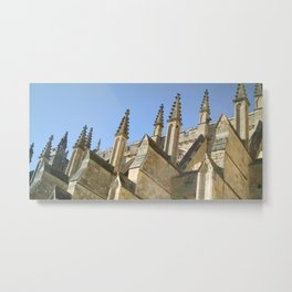 EXETER CATHEDRAL ROOF PINNACLES Metal Print