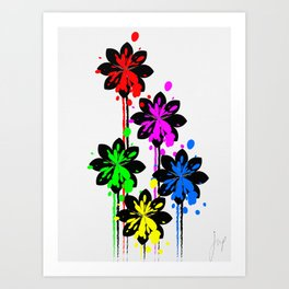 Multi coloured flower bouquet Art Print