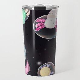 Axolotls in Space Travel Mug