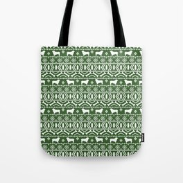 Australian Shepherd dog breed fair isle christmas sweater gifts cute dog patterns Tote Bag