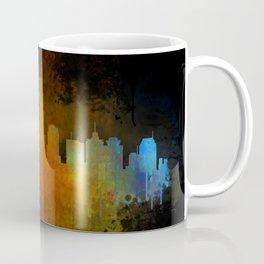 Nashville city skyline Tennessee watercolor v4 Dak Coffee Mug