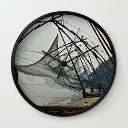 Chinese Fishing Net Kerala India Wall Clock