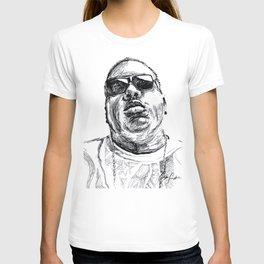 Digital Drawing 33 - Notorious B.I.G. Black and White T-shirt
