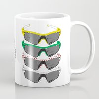 tour de france Mugs featuring Tour de France Glasses by Pedlin