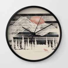 Mountain Lion at Midnight... Wall Clock