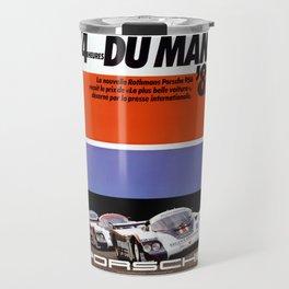 Le Mans 1982, 24hs Le Mans, 1982, original vintage poster Travel Mug