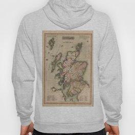 Vintage Map of Scotland (1814) Hoody