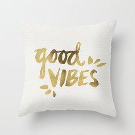 Good Vibes – Gold Ink Throw Pillow