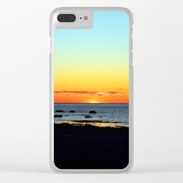 Traditional Seaside Sunset Clear iPhone Case