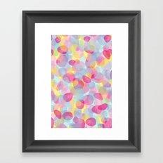 Pebbles Pink Framed Art Print