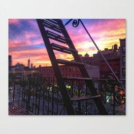 East Village Summer Sunset Canvas Print