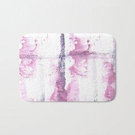 Lavender blush vague watercolor Bath Mat